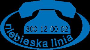 niebieska linia - logotyp
